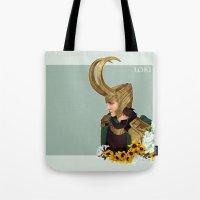 loki Tote Bags featuring Loki by tsunami-sand