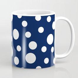 Crazy Dots: Navy Coffee Mug