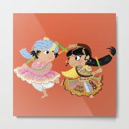 Indian Dance Metal Print