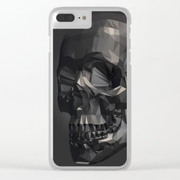 Skull in Low Poly Style Clear iPhone Case