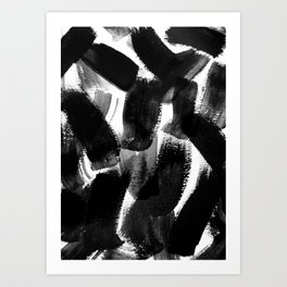 black abstract Art Print