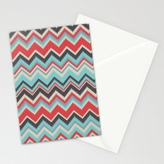 Aztec chevron pattern- grey Stationery Cards