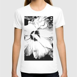 Hibiscus Flower In Black And White Art T-shirt