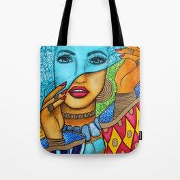 Blue Pashmina Tote Bag