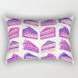 Cake Slices – Unicorn Palette Rectangular Pillow