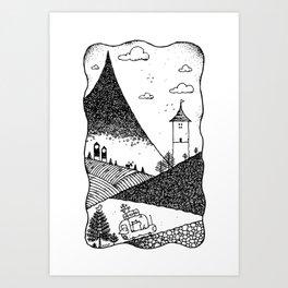 The Travelers Art Print