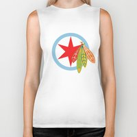 blackhawks Biker Tanks featuring City of the Four Feathers by fohkat