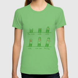 Tower Of Pisa Through The Years T-shirt