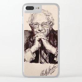 BERNIE SANDERS Clear iPhone Case