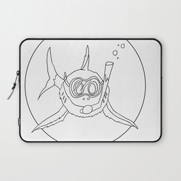 shark with snorkle Laptop Sleeve