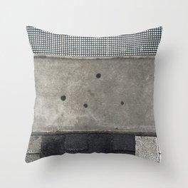 Cement Quilt Throw Pillow