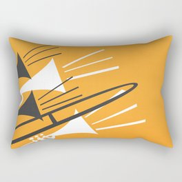 Brass Instruments Rectangular Pillow