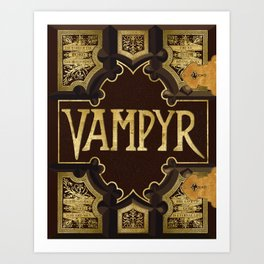 Vampyr Book -- Buffy the Vampire Slayer Art Print
