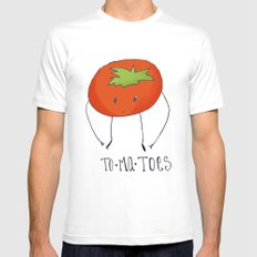 To-ma-toes Mens Fitted Tee White MEDIUM