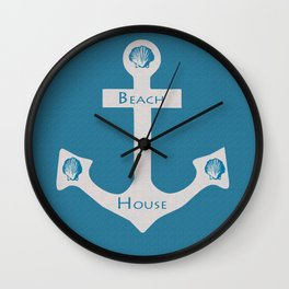 Beach House Sign Wall Clock