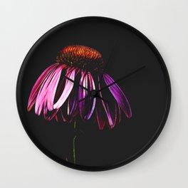 Neon Cone Wall Clock