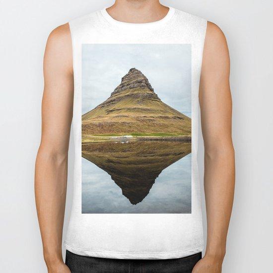 Mountain reflect Biker Tank