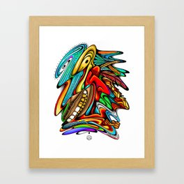 Eye of the Phoenix Framed Art Print