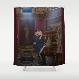 comfort before confession Shower Curtain