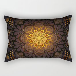 """Warm light Moroccan lantern Mandala"" Rectangular Pillow"