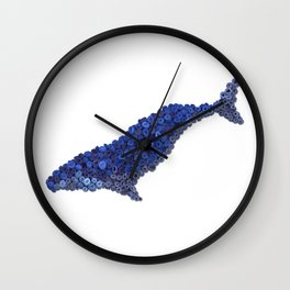 HUMPBACK WHALE- Hand-Rolled Paper Art Wall Clock