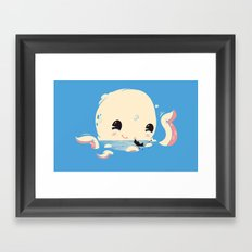 Adorable Octopus Battle (Bold) Framed Art Print