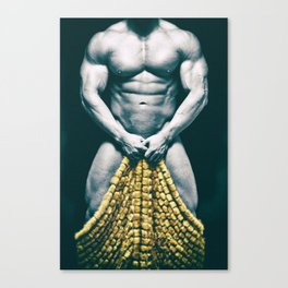 Draped Male Nude - Distressed Treatment (001) Canvas Print