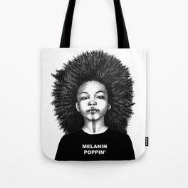 Melanin Poppin Tote Bag