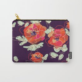 Poppy Print Carry-All Pouch