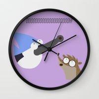 regular show Wall Clocks featuring regular show by tukylampkin