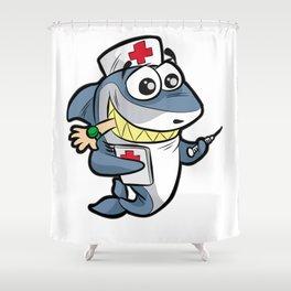 NURSE SHARK Doctor Medicine Hospital syringe gift Shower Curtain