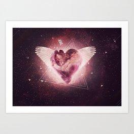 Graphics Heart Art Print