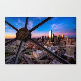 Dallas Skyline at Dusk Canvas Print
