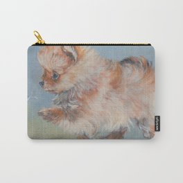 Pomeranian dog art from an original painting by L.A.Shepard Carry-All Pouch