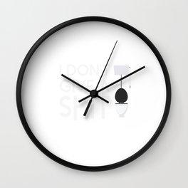 Give a Shit Wall Clock
