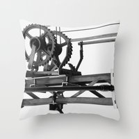 techno Throw Pillows featuring Techno? by Let's make it happen