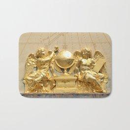 Angels of the Sorbonne sundial Bath Mat