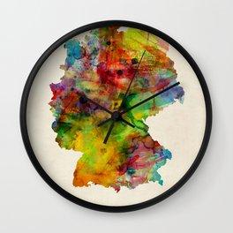 Germany Watercolor Map (Deutschland) Wall Clock