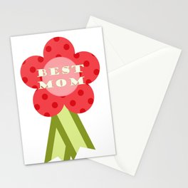 ''best Mom'' flower medal - Mother's Day gift idea Stationery Cards