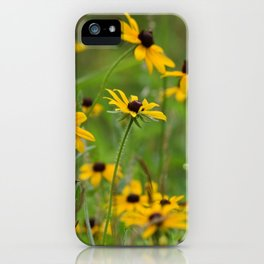 Black Eyed Susans Wildflower Field Landscape iPhone Case