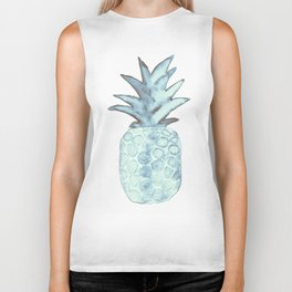 Turquoise Pineapple Biker Tank