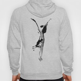 Black and white, minimalist, modern yoga pose illustration for yoga studio, yoga art, drawing, om Hoody