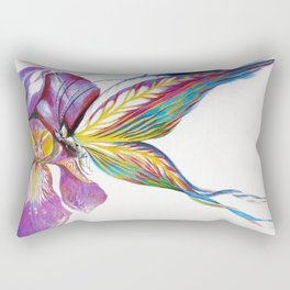 Iris Butterfly Rectangular Pillow