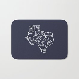 Texas Strong (Dark Blue) Bath Mat