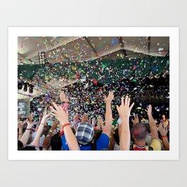 Confetti Hoorah (They Might Be Giants) Art Print