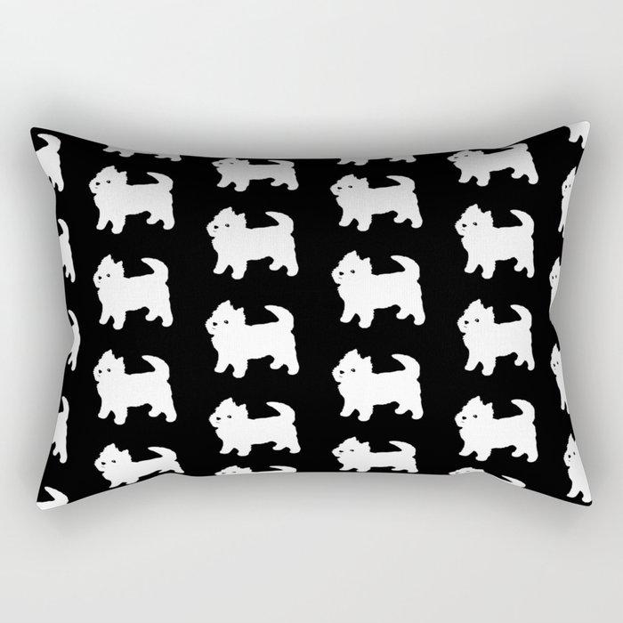 Westie Dog Pattern Rectangular Pillow
