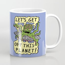 Alien UFO Escape Coffee Mug