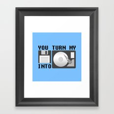 You turn my floppy disk into hard drive Framed Art Print