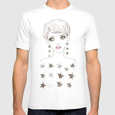 Star Girl White SMALL Mens Fitted Tee