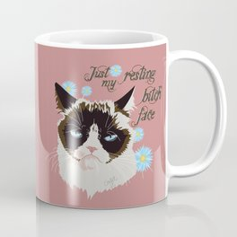 Resting Cat Face Coffee Mug